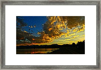 Framed Print featuring the photograph Mountain Colour by Eric Dee