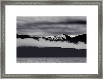 Mountain Contrast Framed Print