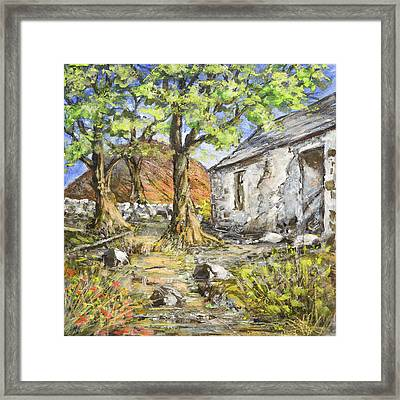 Mountain Cottage Framed Print by Marty Garland