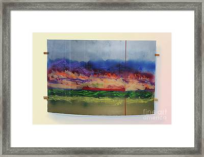 Framed Print featuring the painting Mountain Crossing by Mordecai Colodner