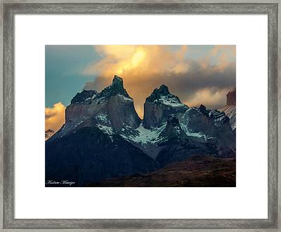 Mountain Evening Framed Print by Andrew Matwijec