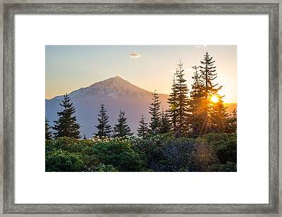 Mountain Evening Framed Print by Leland D Howard