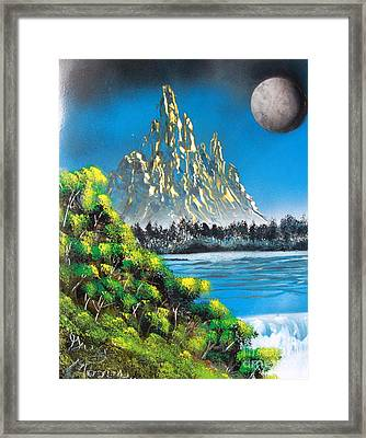 Mountain Falls Framed Print by Greg Moores