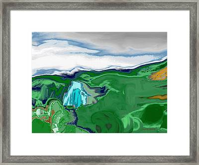 Mountain Falls Framed Print