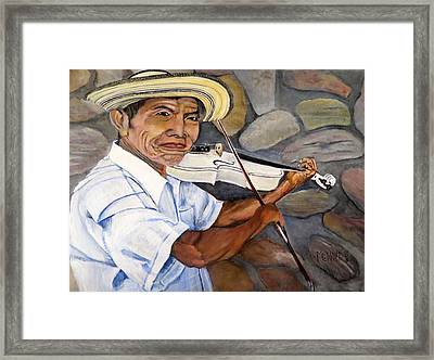 Mountain Fiddler Framed Print by Marilyn McNish