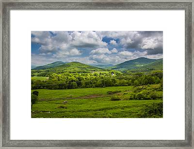 Framed Print featuring the photograph Mountain Field Of Greens by Paula Porterfield-Izzo