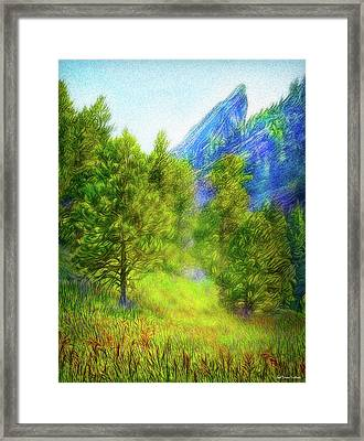 Mountain Field Springtime Framed Print