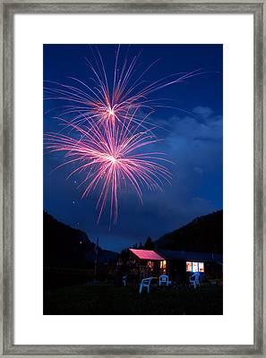 Mountain Fireworks Landscape Framed Print by James BO  Insogna
