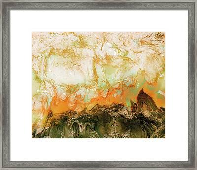 Mountain Flames II Framed Print by Paul Tokarski