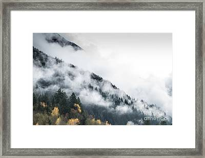 Mountain Fog Framed Print