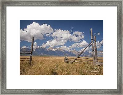 Mountain Gate Framed Print