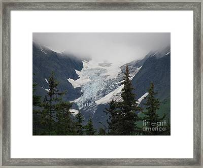 Mountain Glacier Framed Print