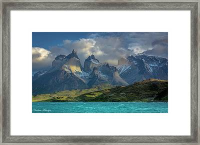 Mountain Glimmer Framed Print by Andrew Matwijec
