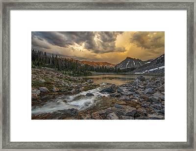 Mountain Glow Framed Print by Leland D Howard