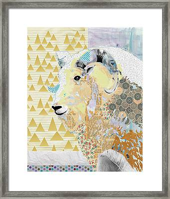 Mountain Goat Collage Framed Print