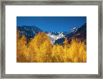 Framed Print featuring the photograph Mountain Gold by Andrew Soundarajan