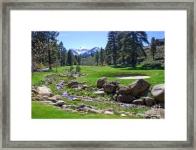 Mountain Golf Course Framed Print by Thomas Marchessault