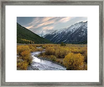 Mountain Grandeur Framed Print by Leland D Howard