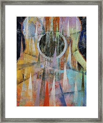 Mountain Guitar Framed Print by Michael Creese