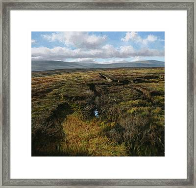 Mountain Heather Framed Print by Eugene Conway