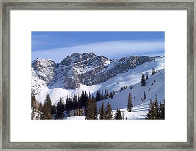 Mountain High - Salt Lake Ut Framed Print