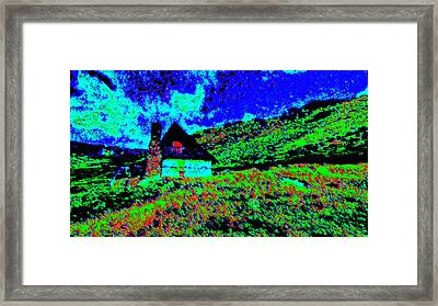 Mountain House Dd3 Framed Print by Modified Image