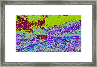 Mountain House Dd4 Framed Print by Modified Image