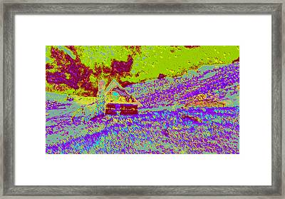 Mountain House Ddd4 Framed Print by Modified Image