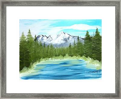 Mountain Imagining Framed Print