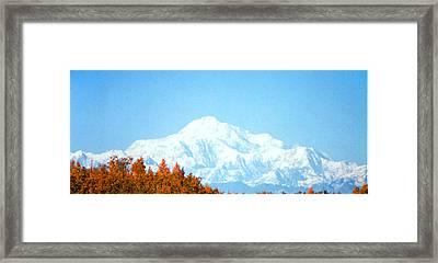 Mountain Framed Print by Judyann Matthews