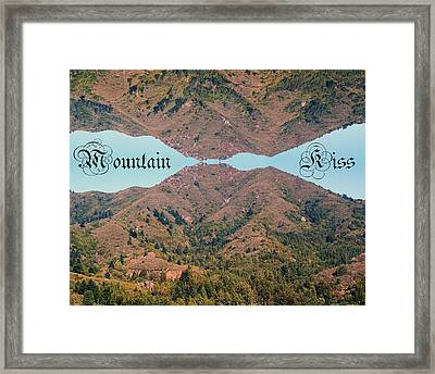 Mountain Kiss  Framed Print