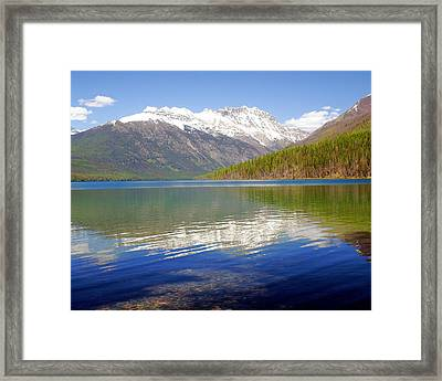 Mountain Lake 4 Framed Print by Marty Koch