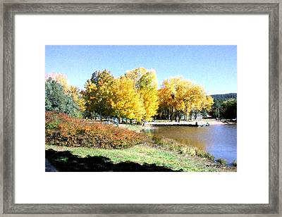 Mountain Lake Autumn Framed Print