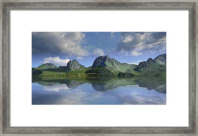 Mountain Lake Framed Print by Bruno Santoro