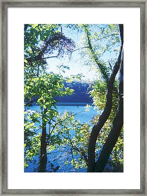 Mountain Lake Framed Print by Utopia Concepts