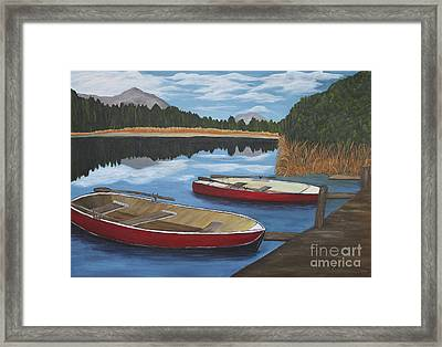 Mountain Lake Framed Print by Christiane Schulze Art And Photography