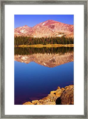 Framed Print featuring the photograph Mountain Lake Reflections by John De Bord