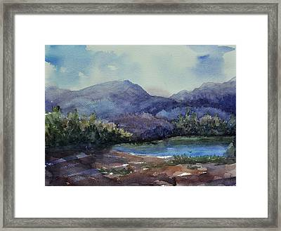 Mountain Lake  Framed Print by Sandy Fisher