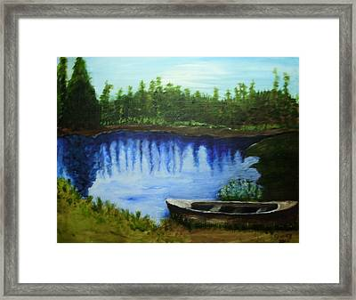 Mountain Lake Framed Print by Shelley Bain