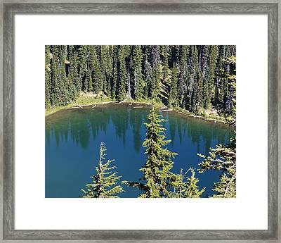 Mountain Lake Framed Print by Sonja Anderson