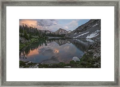 Mountain Lake Sunset Framed Print by Leland D Howard