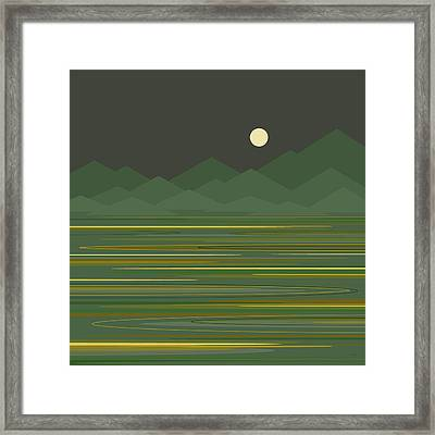 Mountain Lake Framed Print by Val Arie