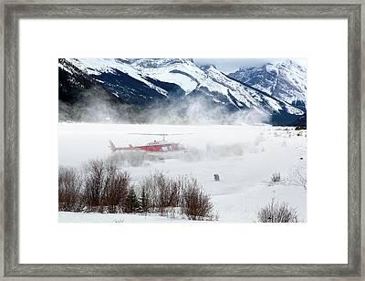 Mountain Landing Framed Print