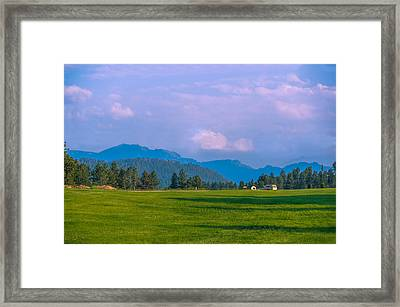Mountain View In Black Hills  Framed Print