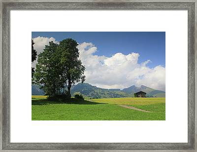 Mountain Landscape Switzerland Framed Print