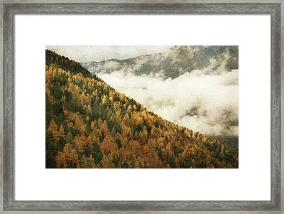 Mountain Landscape Framed Print by Vittorio Chiampan