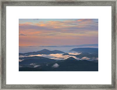 Framed Print featuring the photograph Mountain Layer Sunrise by Ken Barrett