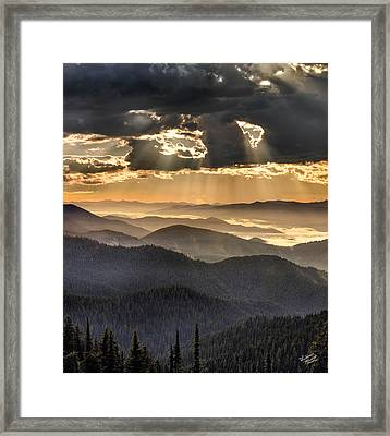 Mountain Layers Framed Print by Leland D Howard