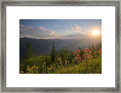 Mountain Light Framed Print by Idaho Scenic Images Linda Lantzy