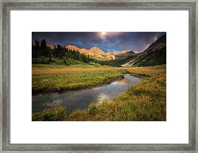 Mountain Light Framed Print